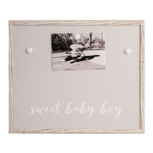 SWEET BABY BOY GRAY MAGNET FRAME