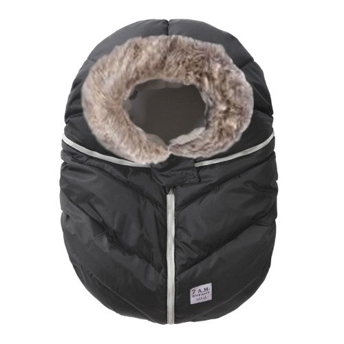 7am black with fur enfant winter car seat cover brandon mantioba