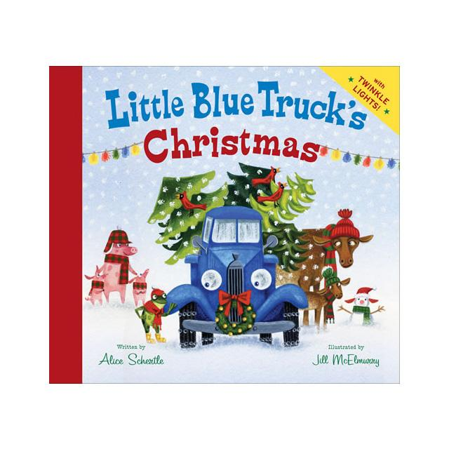 little blue trucks christmwas written by alice schertle ilustrated by jill mcelmurry