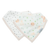 loulou lollipop muslin bandana bib set bunny meadow
