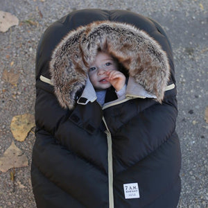 7am black with the fur car seat cover with baby brandon manitoba