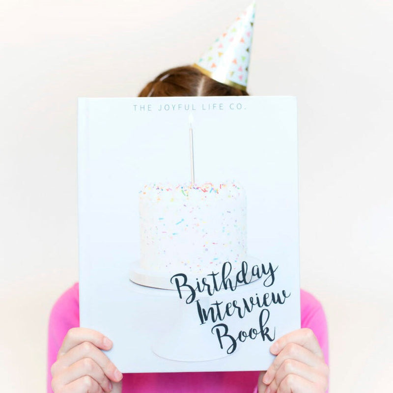 The Joyful Life Co - Birthday Interview Book