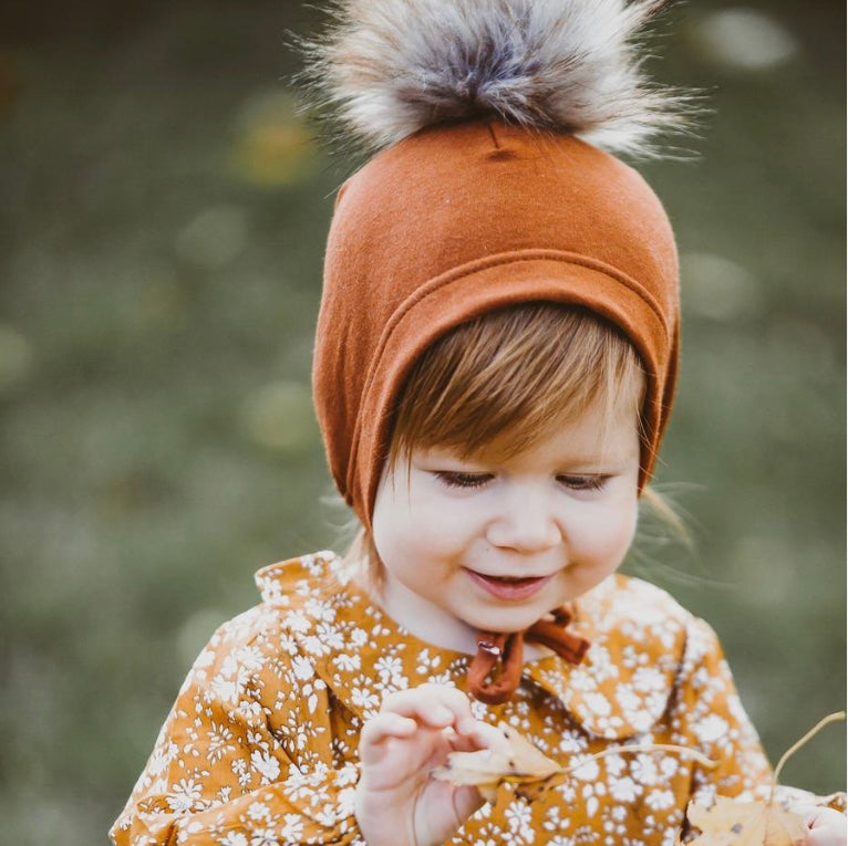 Lillemus Fleece Pom Bonnet