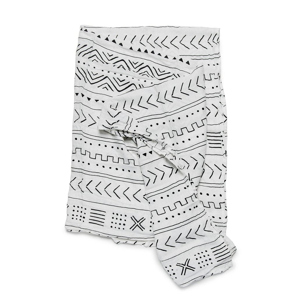 loulou lollipop muslin swaddle white mudcloth brandon manitoba