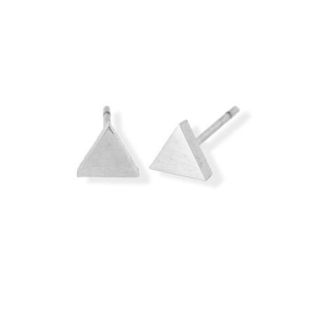 FAB Accessories Polished Triangle Earrings