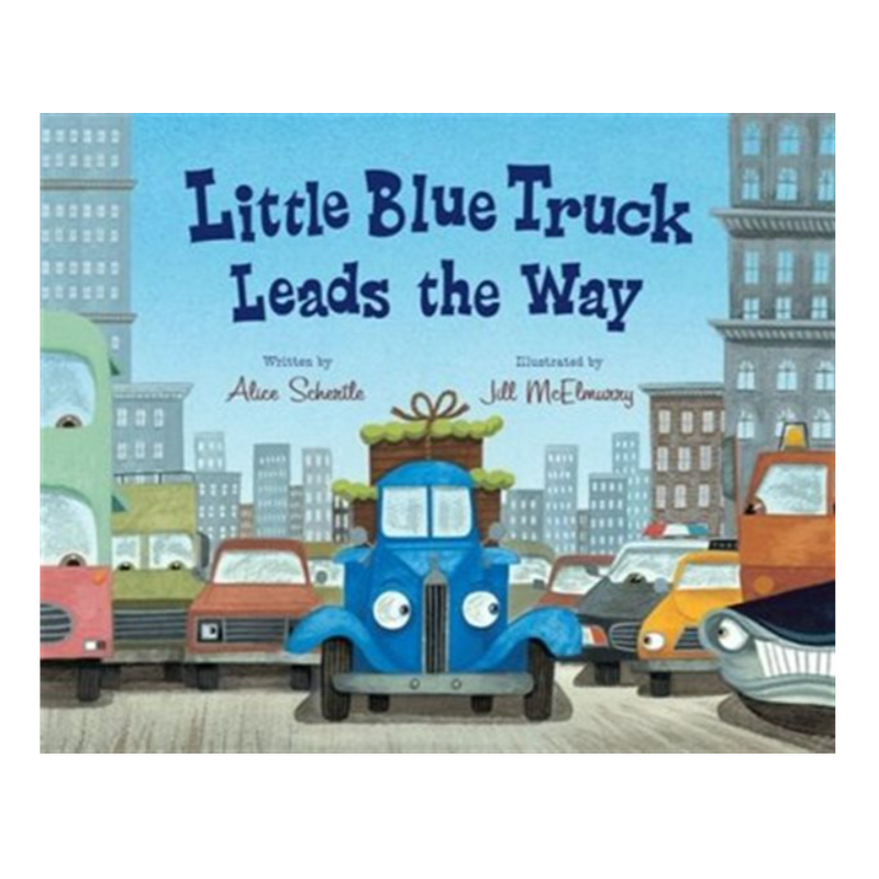 little blue truck leads the way written by alice schurtle illustrated by jill mcelmurry
