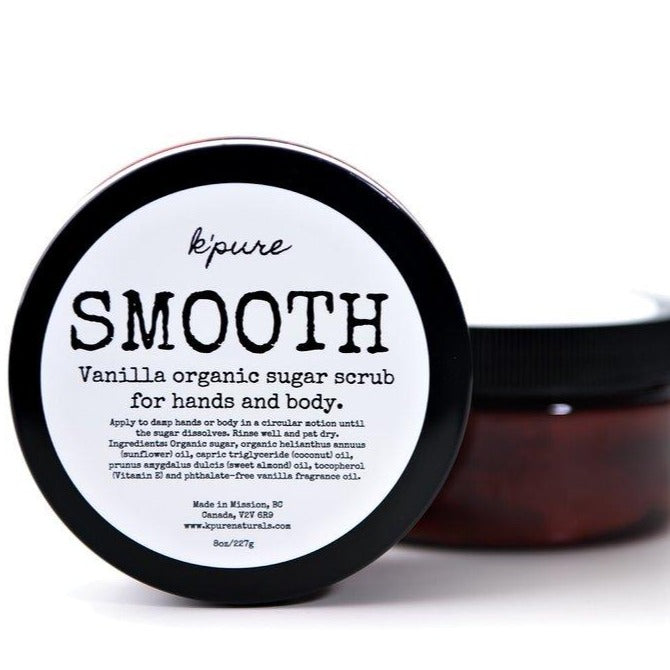 K'pure SMOOTH Organic Sugar Scrub for Hands and Body- 8oz