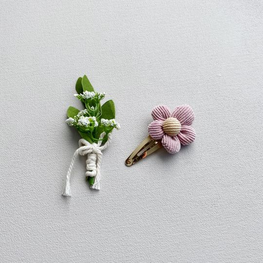 LUX and DAE - Corduroy Flower Clip