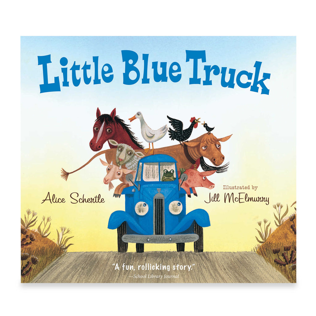little blue truck board book by alice schertle illustrated by jill mcelmurry