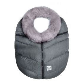 7am charocal grey with fur enfant winter car seat cover