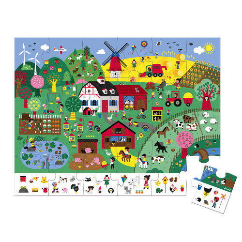 Janod Observation Puzzle - The Farm (24 Pieces)