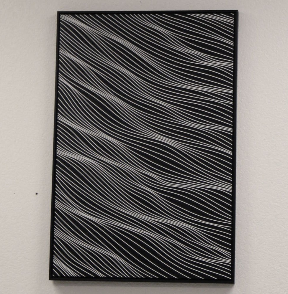 White on Black 2x3 feet B framed
