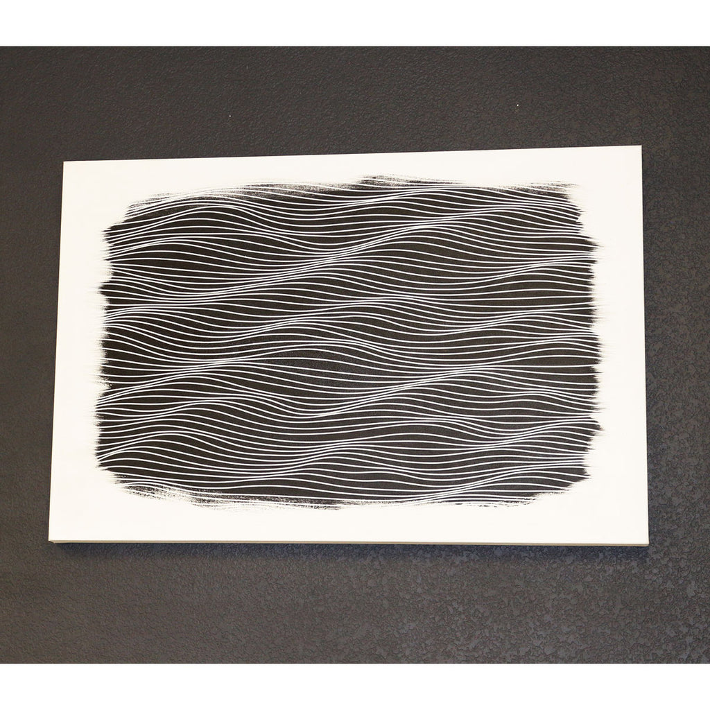 black and white abstract painting original