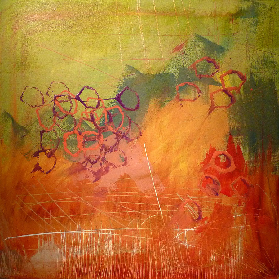 Green Orange - Print on Paper - Free Shipping in USA