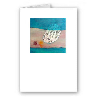 Q Blue Mini Notecard