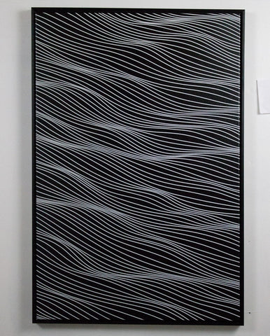 White on Black 2x3 feet A