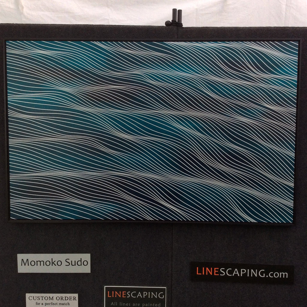 Aqua Turquoise 30x48 with frame