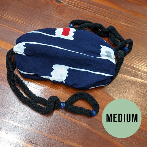 Medium - Dark Blue Blue Beads