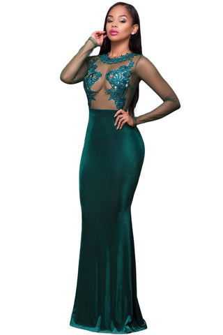 Green Mesh Mermaid Prom/Evening Dress - Unmarked Style Clothing Store