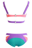 Strappy Cutout Bikini Swimsuit - Unmarked Style Clothing Store