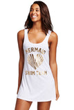Graphic Tank Swim Cover Up Dress - Unmarked Style Clothing Store