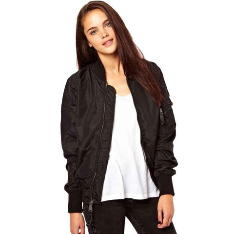 Long Sleeve Bomber Jacket - Unmarked Style Clothing Store