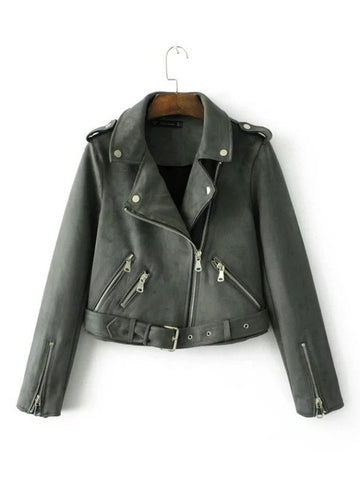 Fashion Suede Motorcycle Jacket