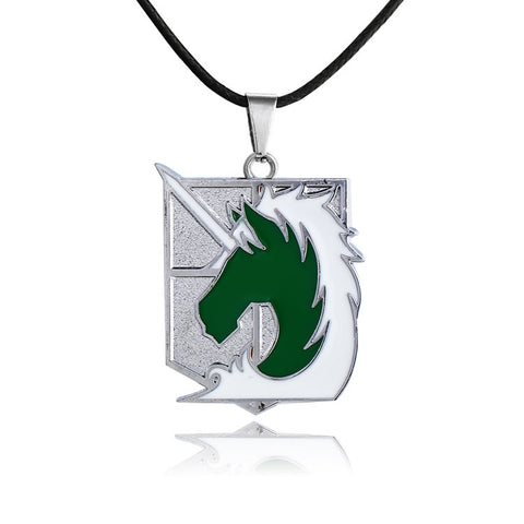 Attack on Titan Military Police Unicorn Necklace