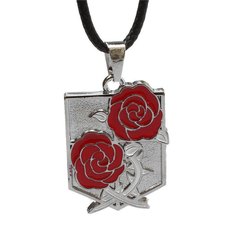 Attack on Titan Stationary Guard Roses Necklace