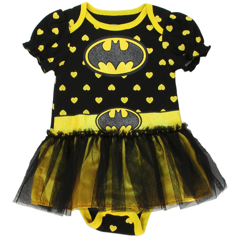 Batgirl Girls Newborn Dress Up Tutu Creeper