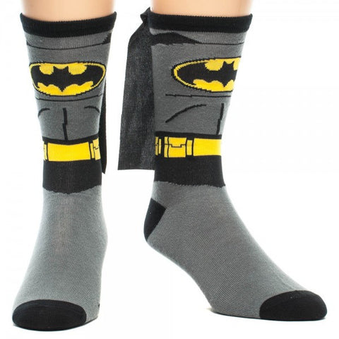 Batman 'Suit Up' Crew Sock with Cape