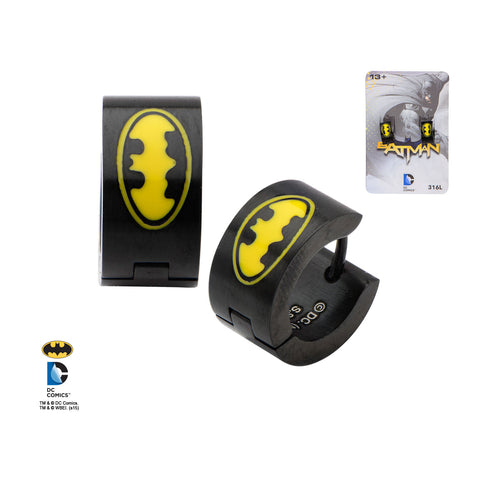 Batman Huggie Earrings
