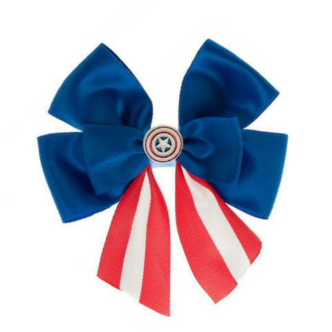 Captain America Hair Bow
