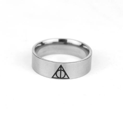 Harry Potter Deathly Hallows Ring - Stainless Steel