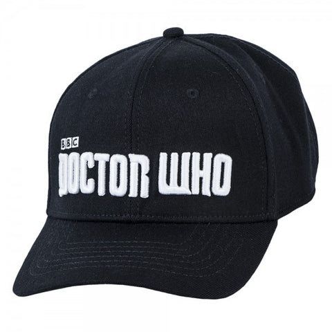 Doctor Who Logo Black Flex Hat