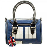 Doctor Who Tardis Mini Satchel Purse with Metal Charm