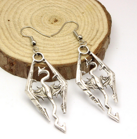 Elder Scrolls Skyrim Dangle Earrings