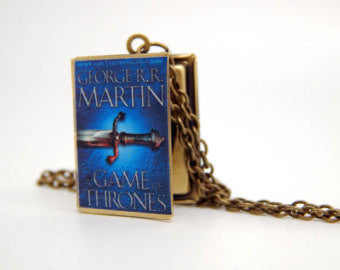 Game of Thrones - A Game of Thrones Book Locket Necklace