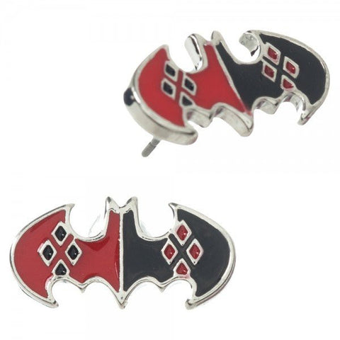 Harley Quinn Batman Earrings
