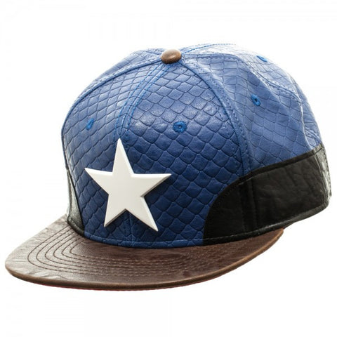 Marvel Captain America Leather Snapback