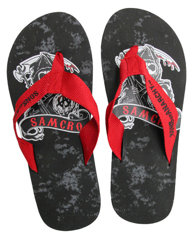 Sons of Anarchy Reaper SAMCRO Flip Flops