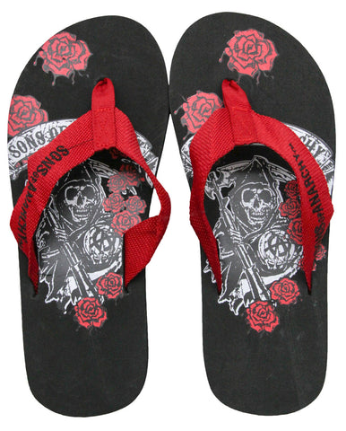 Sons of Anarchy Roses Flip Flops