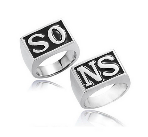 Sons of Anarchy SONS Ring Pair