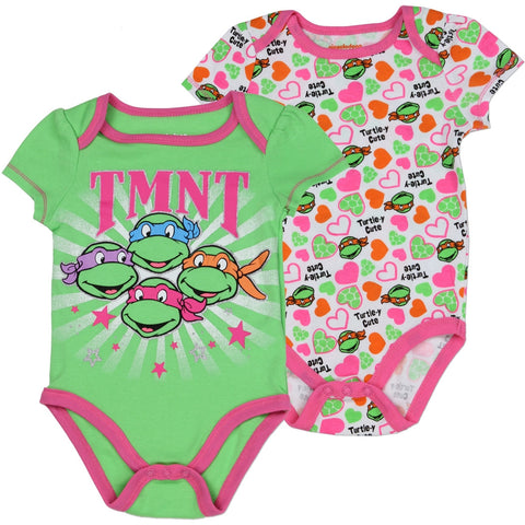 TMNT Teenage Mutant Ninja Turtles Girls 2 Pack Onesies