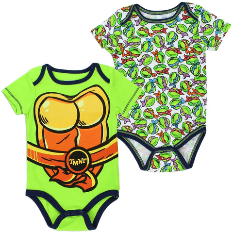 TMNT Teenage Mutant Ninja Turtles Boys 2 Pack Onesies