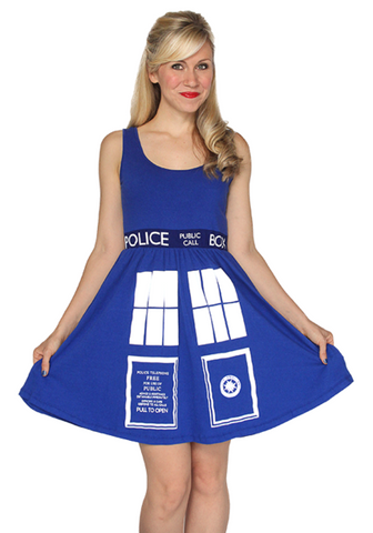 Doctor Who Tardis A-Line Dress