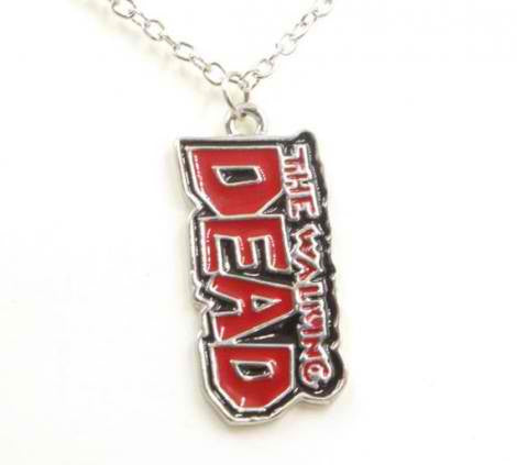 The Walking Dead Comic Book Title Necklace