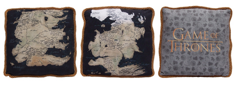 Game of Thrones Westeros Map Pillow Pair