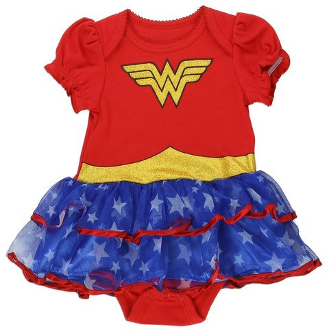 Wonder Woman Short Sleeve Baby Tutu