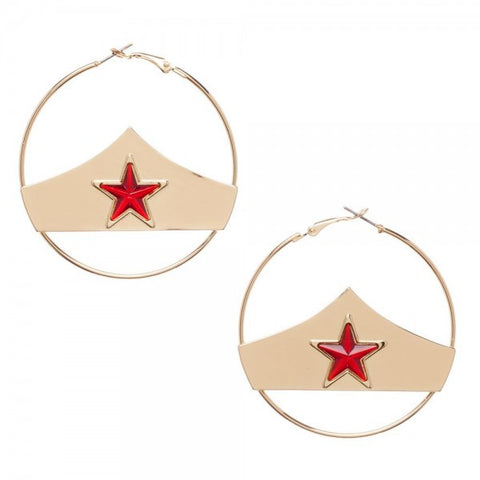 Wonder Woman Tiara Hoop Earrings